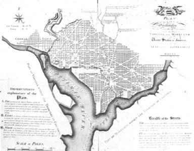 Ellicott Revision of L'Enfant Plan for Washington, D.C.