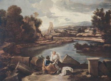 Saint Matthew and Landscape