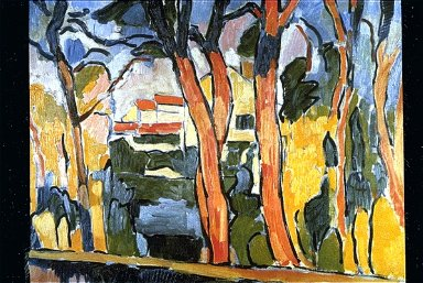 Landscape with Red Trees