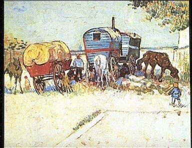 The Caravans - Gypsy Camp near Arles