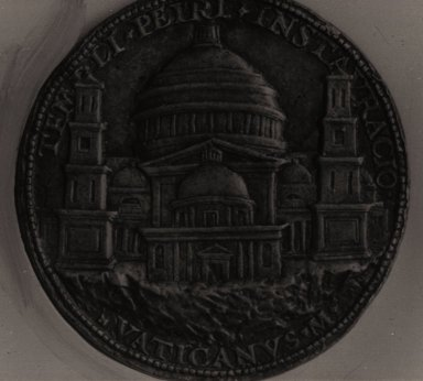 Medal with Bramante's Design for Saint Peter's Basilica