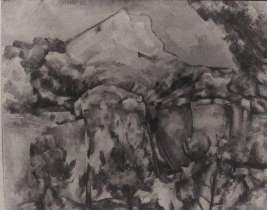 Mont Sainte Victoire seen from Bibemus Quarry