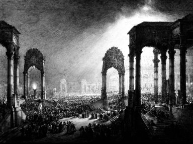 Study for the Diorama: The Inaguration of Salomon's Temple
