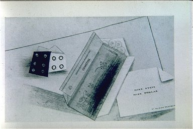 Dice, Packet of Cigarettes, and Visiting-Card