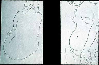 Seated Nude, Back Turned (Nu v de dos) / Nude, Face Partly Showing (Nu au visage coupe)