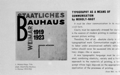 Graphic Design Work for the Bauhaus Press