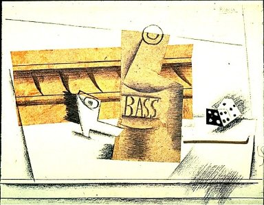 Pipe, Bottle of Bass and Dice