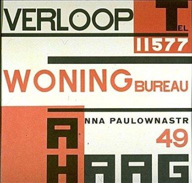 Poster for Verloop Woring Bureau