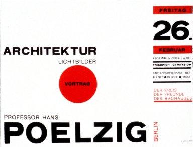 Hans Poelzig Lecture Poster