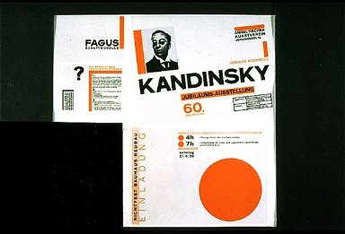 Products of the Fagus Works, Kandinsky Exhibition Poster, Invitation to Building Competition Festival in Dessau