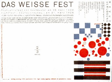 Bauhaus Dance Invitation