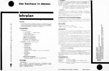 Das Bauhaus in Dessau: Lehrplan