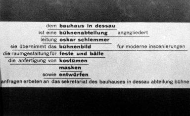 Bauhaus Stage Postcard