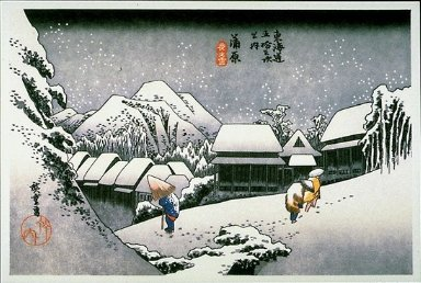 53 Stages on the Tokaido Highway: Snow-Dust at Kambara