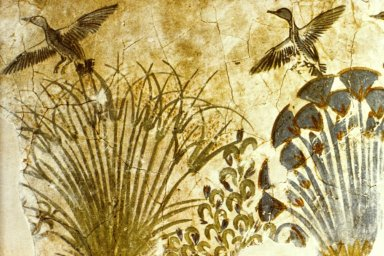 Floor Painting of Ducks in a Papyrus Marsh