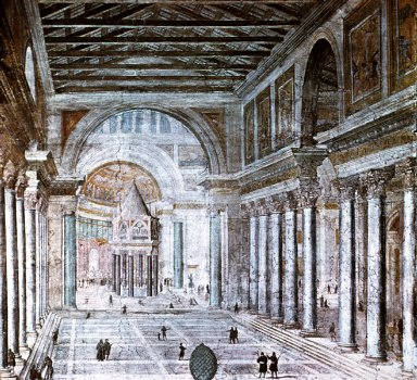 Old Basilica of Saint Peter, from a Fresco