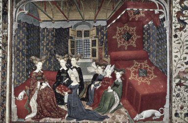 Christine de Pisan Offers her Works to Isabel of Bavaria