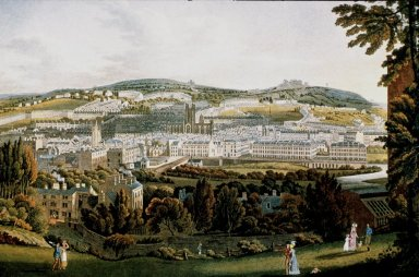 Hillside View of Bath