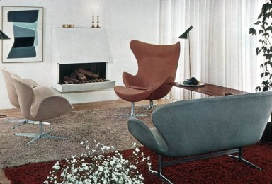 Swan Chairs and Sofa / Egg Chair and Ottoman