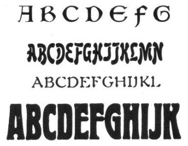 Typeface Samples - Art Nouveau