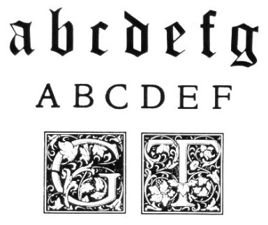 Typeface Samples - Arts and Crafts Movement