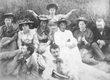 Portrait of Charles Rennie Mackintosh and Friends
