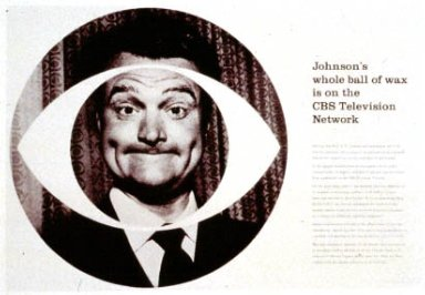CBS Advertisement 'Johnson's Whole Ball of Wax is on the CBS Television Network'