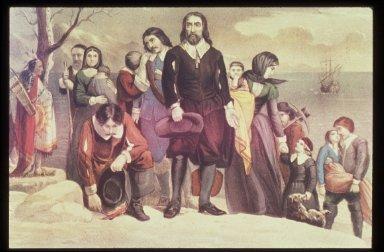 Landing of the Pilgrims at Plymouth, Massachusetts on December 22, 1620
