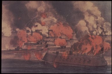 Fight of the Iron-Clads at Charleston, April 7, 1869