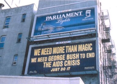 AIDS Political Activity Billboard