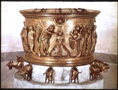 Baptismal Font, from Saint Barthelemy