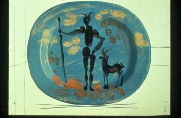 Plate: Shepherd and Goat