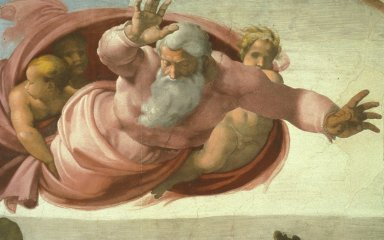 Sistine Chapel: God Separating the Earth from the Waters