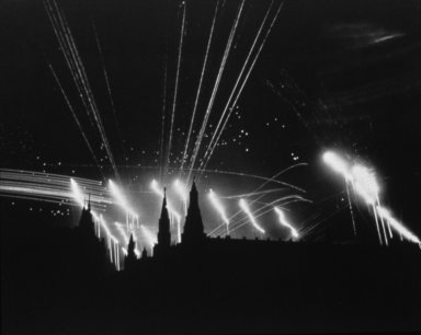 Kremlin, Moscow, Night Bombing by the Germans