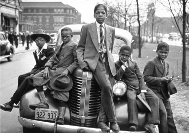 Negro Boys on Easter Morning on the South Side of Chicago