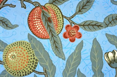Fruit Wallpaper Series: Light Grey
