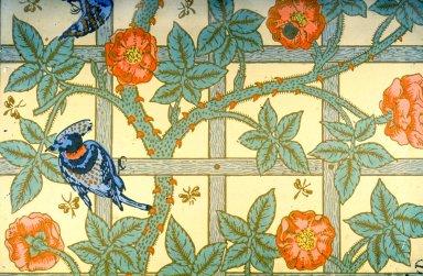 Trellis Wallpaper Series: Cream
