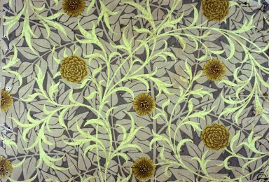 Scroll and Flower Wallpaper Series: Grey