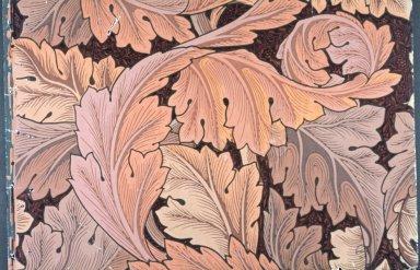Acanthus Wallpaper Series: Dark Red