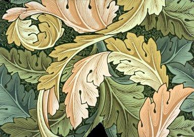Acanthus Wallpaper Series: Green