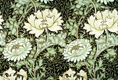 Chrysanthemum Wallpaper Series: Grey