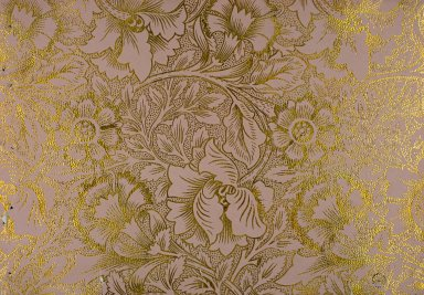 Pink and Poppy Wallpaper Series: Pink on Gilt