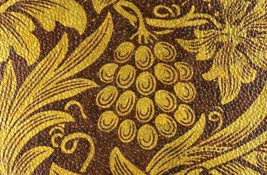 Sunflower Wallpaper Series: Red on Gilt
