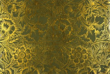 Pink and Poppy Wallpaper Series: Brown on Gilt
