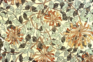 Honeysuckle Wallpaper Series: White