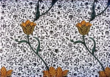Garden Tulip Wallpaper Series: Cream