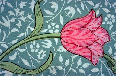 Garden Tulip Wallpaper Series: Blue