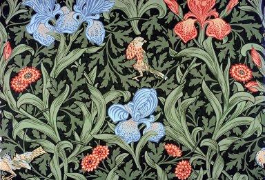 Iris Wallpaper Series: Dark Green