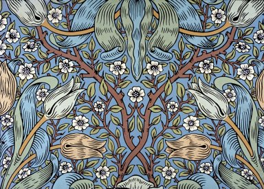 Spring Thicket Wallpaper Series: Blue