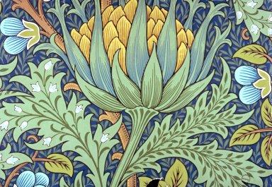 Artichoke Wallpaper Series: Blue